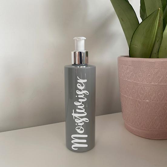 Grey 250ml Bathroom Pump Bottle