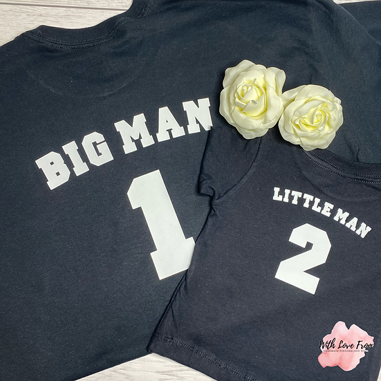 Children's Big Man Little Man Matching Set