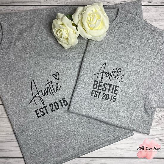 Besties Adult & Child Matching T-Shirt Set
