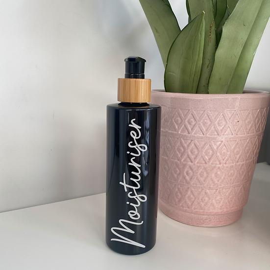Black 250ml Bathroom Pump Bottle