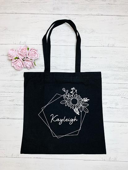 Geometric Print Makeup And Tote Bag Set
