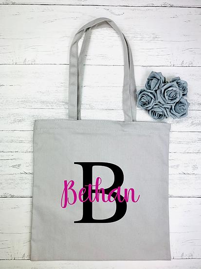 Monogram Print Makeup and Tote Bag Set
