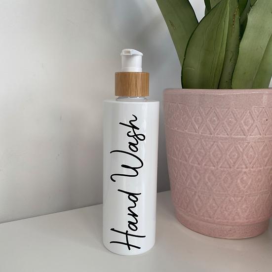 White 250ml Bathroom Pump Bottle