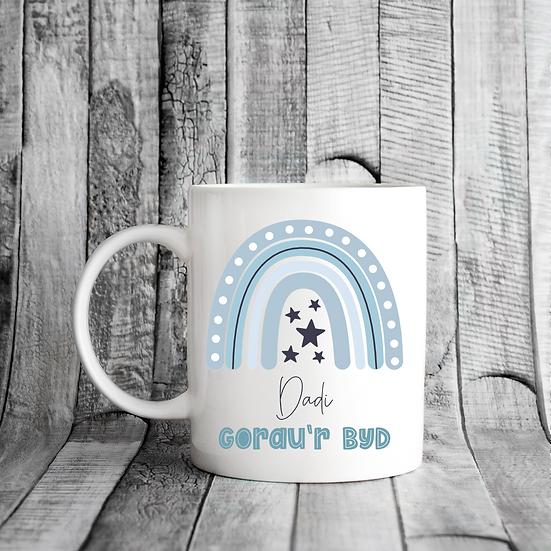 Teulu Gorau'r Byd Mug (Blue)