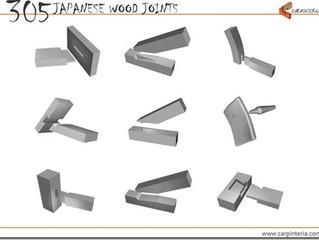 305 juntas japonesas em imagem e em arquivos 3D para você!