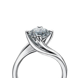 Entwined Engagement Ring - The Love Diamond