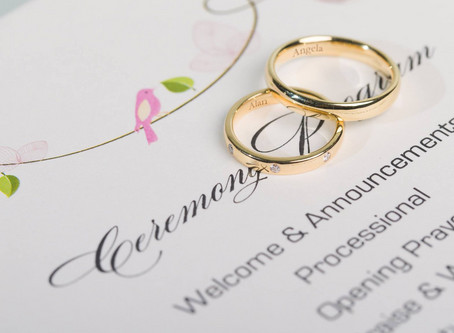 Everything you need to know about engraving your wedding bands