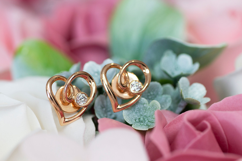 The Love Diamond 18K Rose Gold Earrings