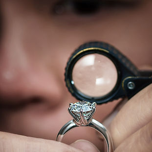 The Love Diamond Engagement Ring Loupe