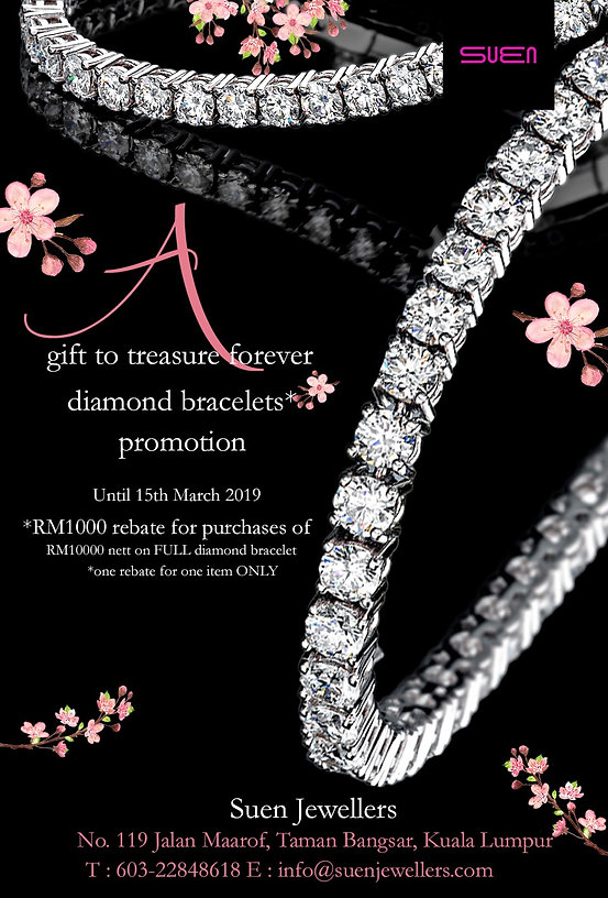 diamond bracelet | promotion | diamond | diamond Malaysia | diamond bracelet Malaysia | diamond shop in Malaysia | bracelet | wedding band shop in Malaysia | bespoke | diamond bracelet in Malaysia
