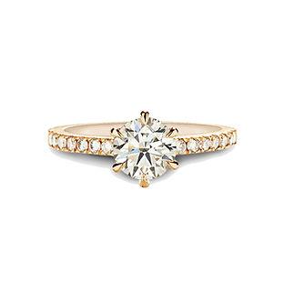 The Love Diamond Rose Gold Engagement Ri