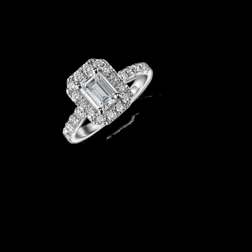 emerald cut diamond engagement ring - suen jewellers