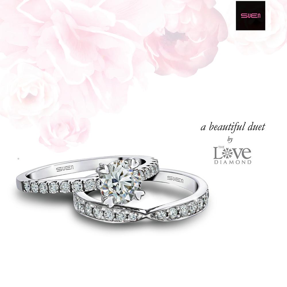 The Love Diamond engagement ring