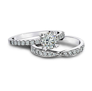 Matching-Engagement-Ring-and-Wedding Band- The Love Diamond