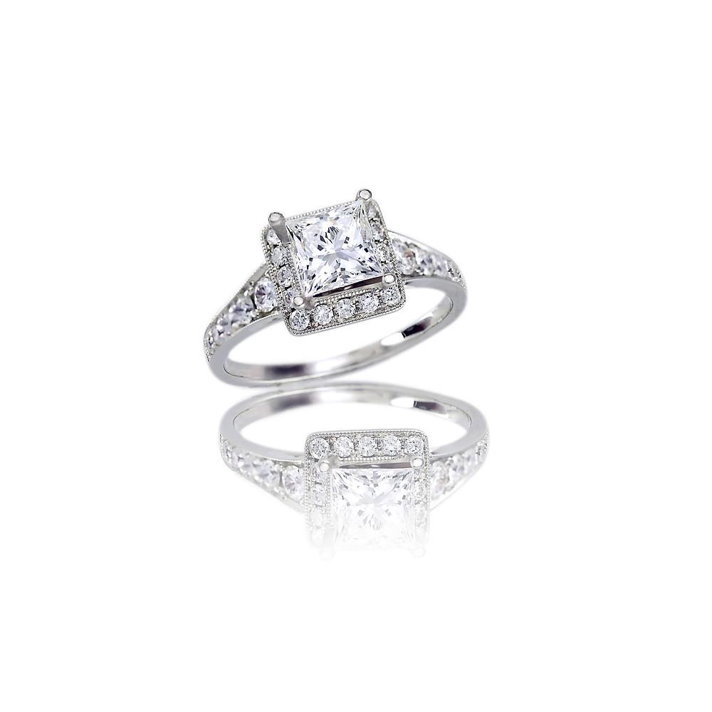 princess cut diamond ring - suenjewellers