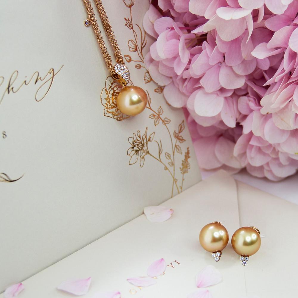 Diamond pear shape waterfall dangling earrings set in 18K white gold