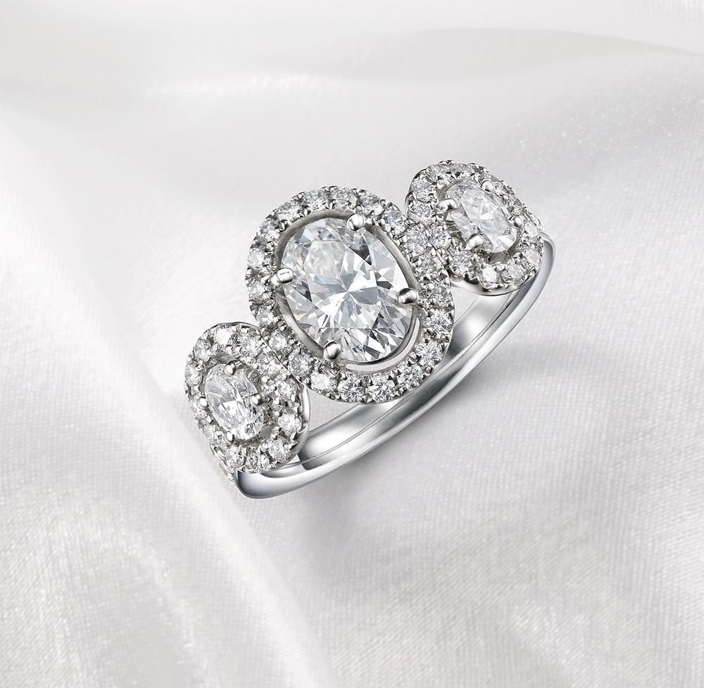 Oval diamond engagement ring Suen Jewellers