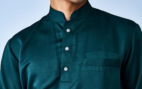 Tombol Moonstone Butang Baju Melayu