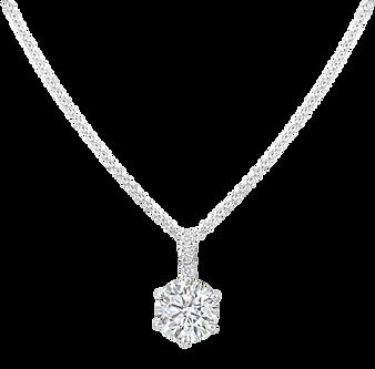 Six Claw Diamond Pendant