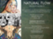 Natural Flow exhibition flier
