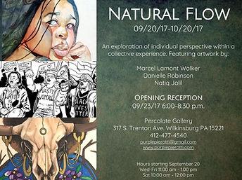 Natural Flow exhibition flier