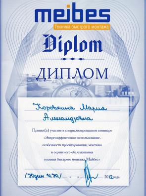 MEIBES Коровкина М.А. 2012