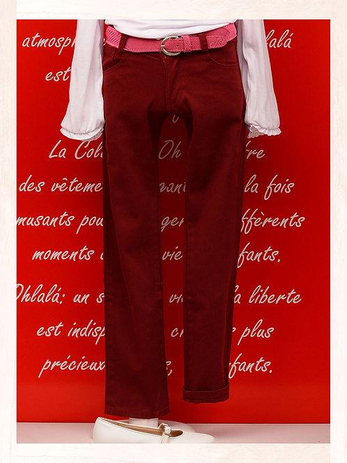 Pantalón de gabardina Color