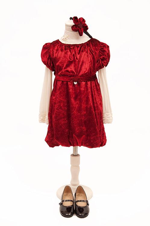 Vestido de Chifon Bombé
