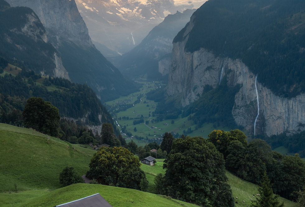 Lauterbrunnen at Dusk