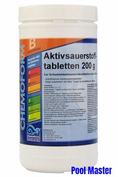 Аквабланк О2 в таблетках 200г 1кг.