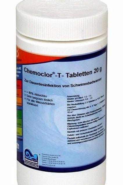 КЕМОХЛОР-Т-быстрорастворимые таблетки 20г 1кг.