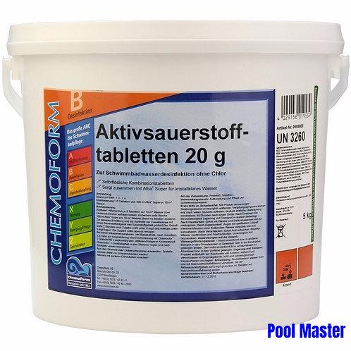 Аквабланк О2 в таблетках 20г 5кг.