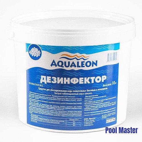 AQUALEON Дезинфектор БСХ (быстрый стаб. хлор в гранулах) 10 кг
