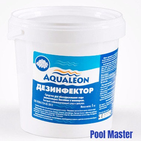AQUALEON Дезинфектор БСХ (быстрый стаб. хлор в гранулах) 1 кг