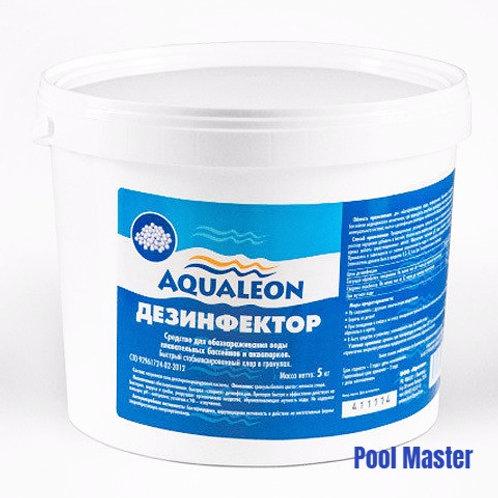 AQUALEON Дезинфектор БСХ (быстрый стаб. хлор в гранулах) 5 кг