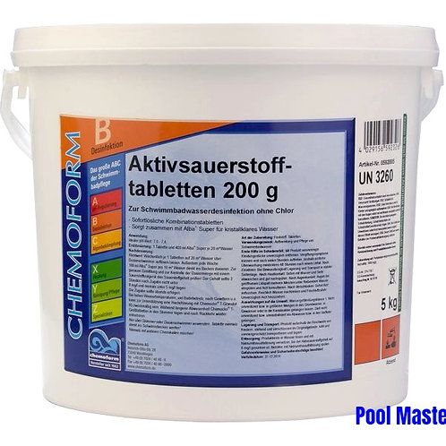 Аквабланк О2 в таблетках 200г 10кг.