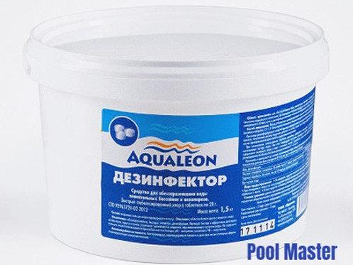AQUALEON Дезинфектор БСХ (быстрый стаб. хлор в таблетках 20 г) 1,5 кг