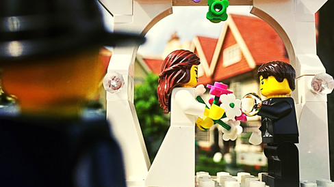 Although I couldn't make it over to England for the wedding, Legoman sends his congratulations to Jeni and Gavin from Epcot's England! Congrats to you both!
