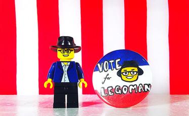 Buttons don't lie. Career politicians do. #VoteForLegoman