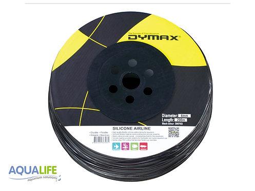 Dymax Manguera siliconada negra de 4mm