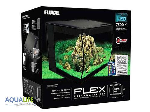 Acuario Fluval Flex de 57 litros en color negro