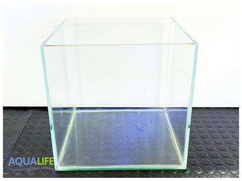 Pecera vidrio Opti White bordes biselados de 30x30x33