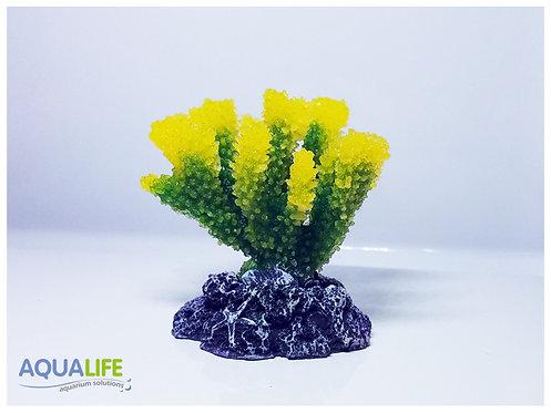 Adorno coral de resina blanda