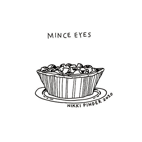 Mince Eyes Colouring In Christmas Card