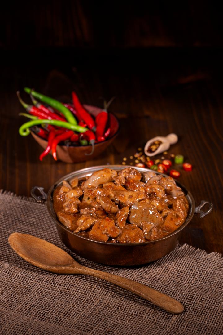 Chicken Livers in Peri-Peri Sauce