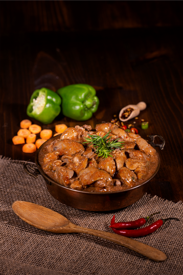 Chicken Livers in Chakalaka Sauce