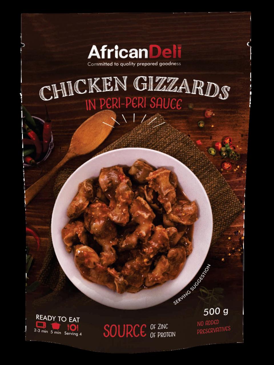 Chicken Gizzards in Peri-Peri Sauce 500g