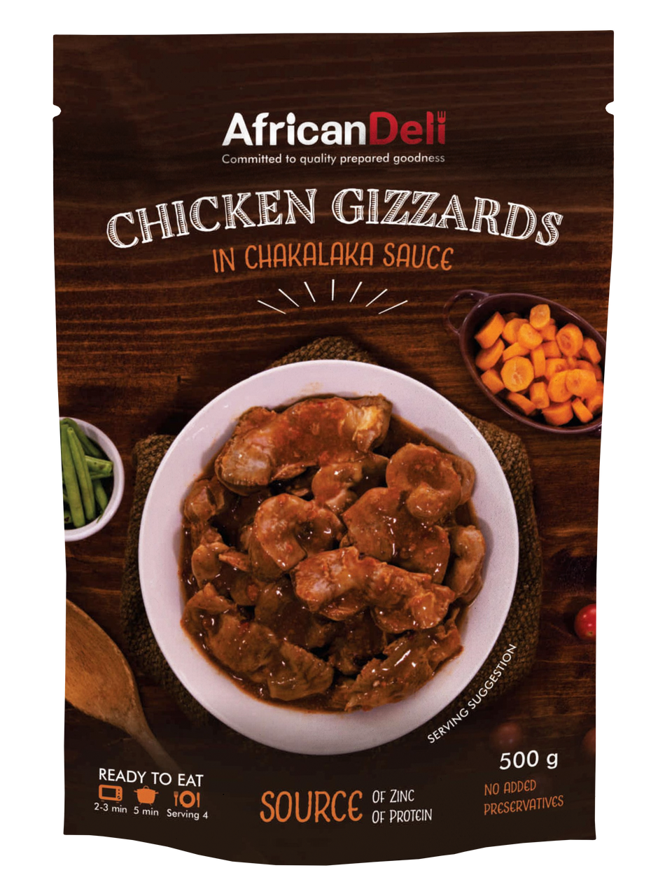 Chicken Gizzards in Chakalaka Sauce 500g