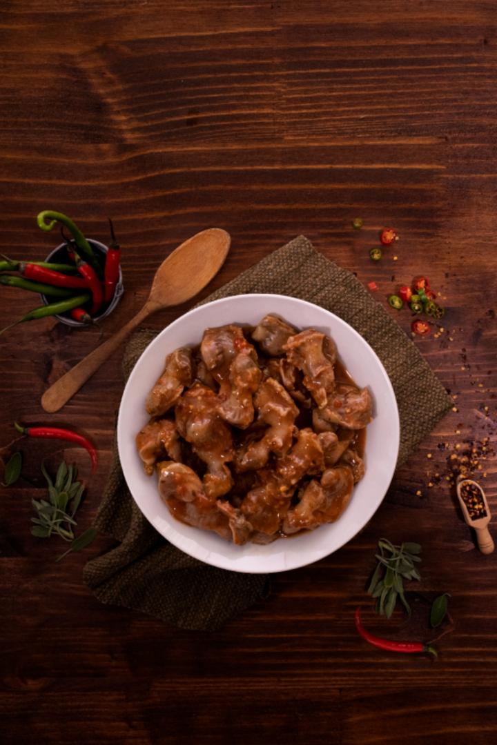 Chicken Gizzards in Peri Peri Sauce