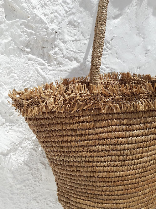 Raffia Shopper Tobacco